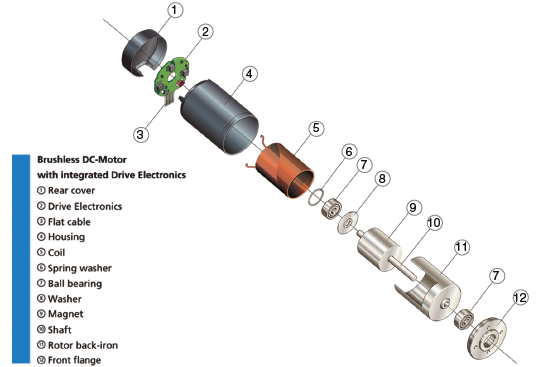a cross section of dc motors and their characteristics